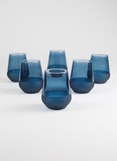 Rakle 425 cc Matte 6'lı Su Bardağı Seti Mavi Mavi